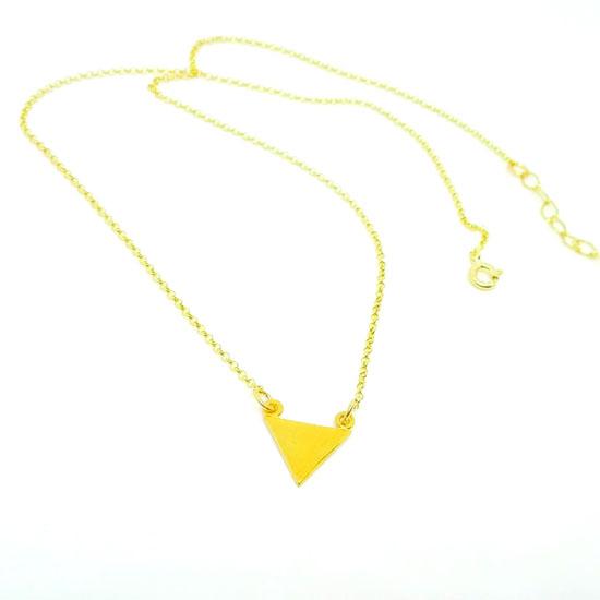 PENDANT TRIANGLE GOLD (M195)