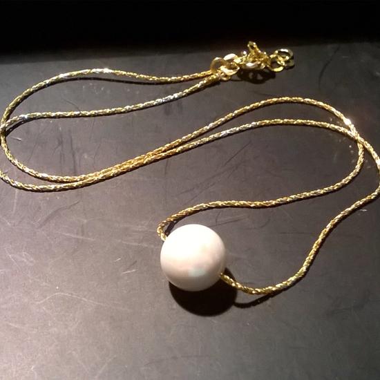 HANDMADE PENDANT PEARL GOLD (M108)