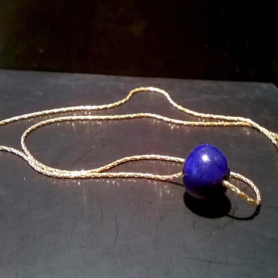 HANDMADE PENDANT LAPIS LAZULI GOLD